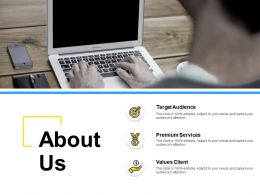 About Us Target Audience I191 Ppt Powerpoint Presentation File Templates
