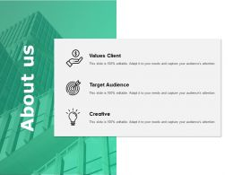 About Us Target Audience I328 Ppt Powerpoint Presentation File Example