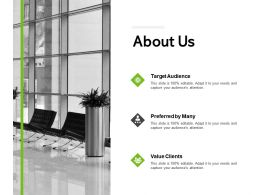 About Us Target Audience Ppt Powerpoint Presentation File Files