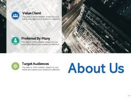About Us Target Audiences C15 Ppt Powerpoint Presentation Gallery Diagrams
