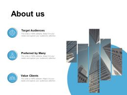 About Us Target Audiences C273 Ppt Powerpoint Presentation Slides Picture