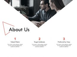 About Us Target Audiences H175 Ppt Powerpoint Presentation Professional Examples