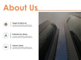 About Us Target Audiences I53 Ppt Powerpoint Presentation File Background Images