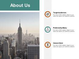 About Us Target Audiences J122 Ppt Powerpoint Presentation Diagram Ppt