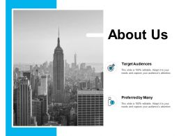 About Us Target Audiences J130 Ppt Powerpoint Presentation Diagram Ppt