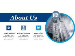 About Us Target Audiences Ppt Powerpoint Presentation File Deck