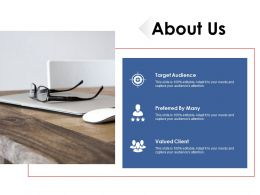 About Us Target Audiences Ppt Professional Background Images