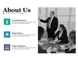 About Us Target Audiences Premium Services