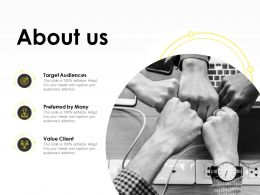 About Us Target Client K284 Ppt Powerpoint Presentation Ideas Example
