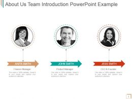 About Us Team Introduction Powerpoint Example