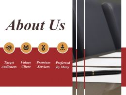 About Us Template 3 Powerpoint Slide Background