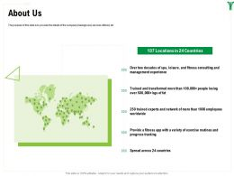 About Us Trained M1600 Ppt Powerpoint Presentation Infographics Show