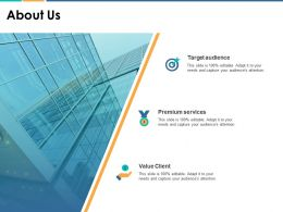 About Us Value Client F140 Ppt Powerpoint Presentation Outline Structure
