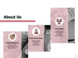 About Us Value Client L350 Ppt Powerpoint Presentation Inspiration Designs