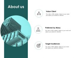 About Us Value Client L403 Ppt Powerpoint Presentation Styles