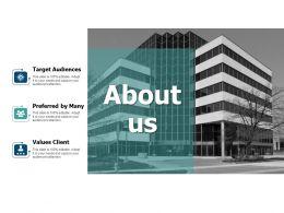 About Us Value Client L459 Ppt Powerpoint Presentation Portfolio