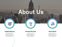About Us Value Clients D249 Ppt Powerpoint Presentation Gallery Example Introduction