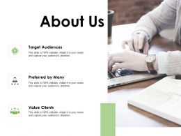About Us Value Clients F372 Ppt Powerpoint Presentation Outline Slideshow