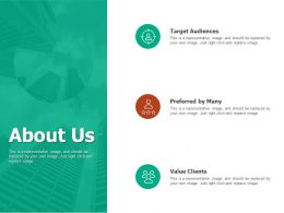 About Us Value Clients I477 Ppt Powerpoint Presentation File Deck