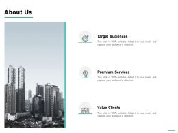 About Us Value Clients L743 Ppt Powerpoint Presentation Professional Outline