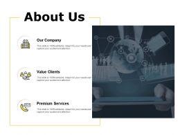About Us Value Clients Premium Services C113 Ppt Powerpoint Presentation Pictures