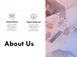 About Us Value Clients Target K230 Ppt Powerpoint Presentation Template Templates