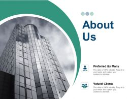 About Us Valued Clients F2 Ppt Powerpoint Presentation Gallery Background Images