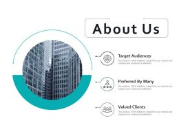 About Us Valued Clients Ppt Styles Infographic Template