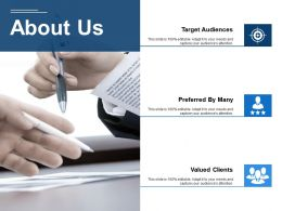 About Us Valued Clients Ppt Visual Aids Background Images