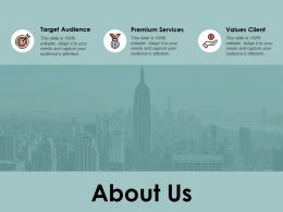 About Us Values Client A131 Ppt Powerpoint Presentation Layouts Display