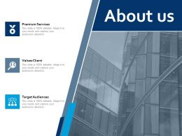 About Us Values Client I120 Ppt Powerpoint Presentation Styles Background Designs