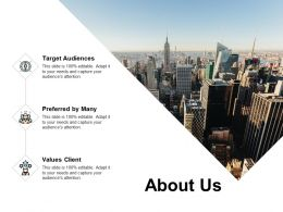 About Us Values Client I181 Ppt Powerpoint Presentation Outline Icons