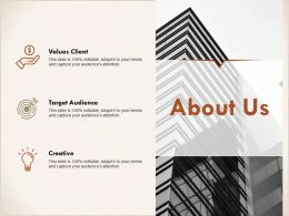 About Us Values Client I306 Ppt Powerpoint Presentation Slides Gridlines