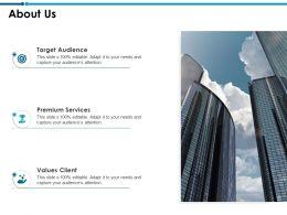About Us Values Client L755 Ppt Powerpoint Presentation Infographics Smartart