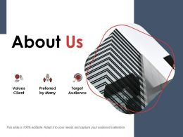 About Us Values Client Ppt Powerpoint Presentation Gallery Layouts