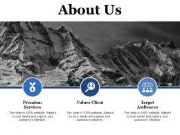 About Us Values Client Ppt Powerpoint Presentation Show