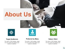 About Us Values Client Ppt Show Infographic Template