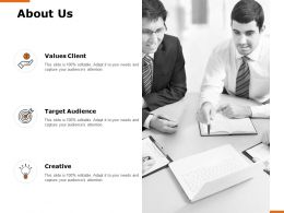 About Us Values Clienth H150 Ppt Powerpoint Presentation Professional Display