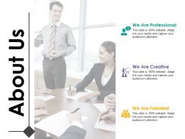 About Us We Are Professional We Are Creative We Are Talented