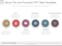 Above The Line Promotion Ppt Slide Templates