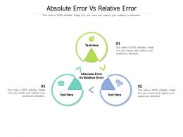 Absolute Error Vs Relative Error Ppt Powerpoint Presentation Portfolio Graphics Example Cpb