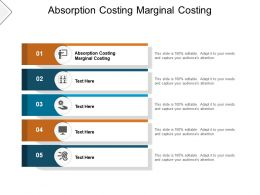 Absorption Costing Marginal Costing Ppt Powerpoint Presentation Layout Cpb