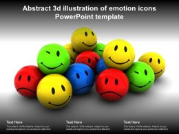 Abstract 3d Illustration Of Emotion Icons Powerpoint Template