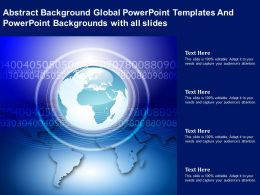 Abstract Background Global Powerpoint Templates And Powerpoint With All Slides Ppt