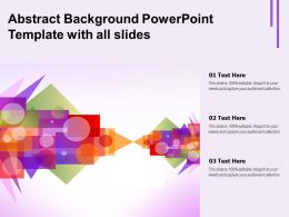 Abstract Background Powerpoint Template With All Slides