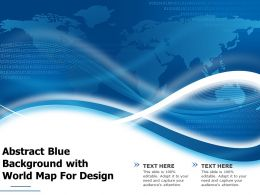 Abstract Blue Background With World Map For Design