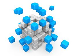 Abstract Cube Assembling Graphic Stock Photo