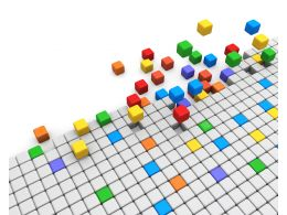 Abstract Cubes Graphic Stock Photo