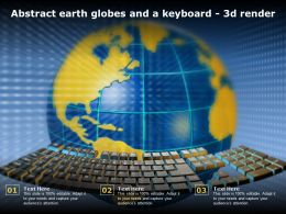 Abstract Earth Globes And A Keyboard 3d Render