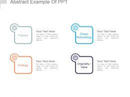 Abstract Example Of Ppt